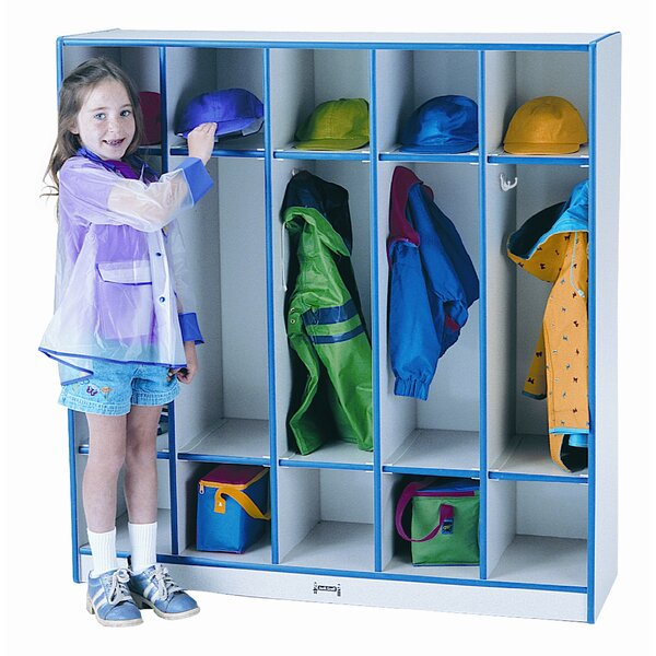 Rainbow Accents 3 Tier 5 Wide Coat Locker by Jonti-Craft