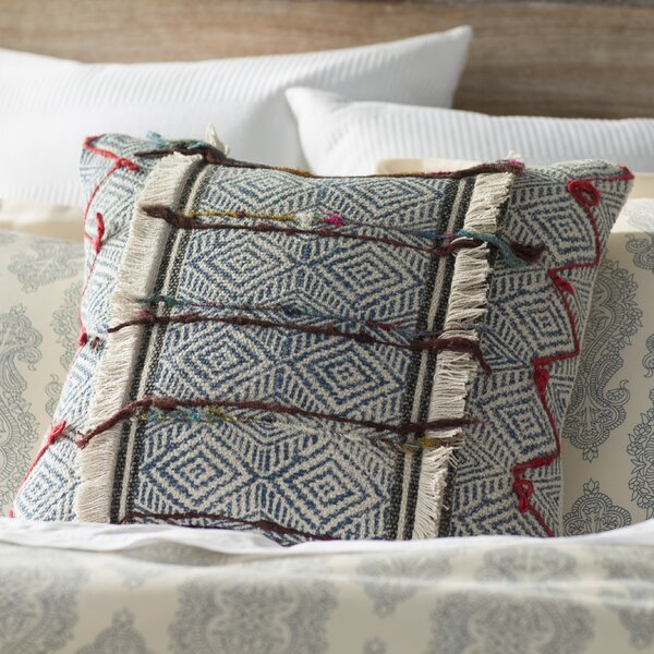 Denys Zipper Cotton Throw Pillow by Mistana
