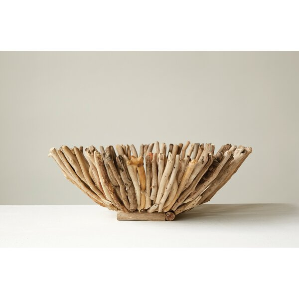 Haught Driftwood Decorative Bowl by Highland Dunes
