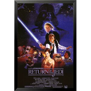 'Star Wars Return of the Jedi Movie - Harrison Ford Mark Hamill Carrie Fisher Billy Dee Williams George Lucas Sci Fi'... by Buy Art For Less