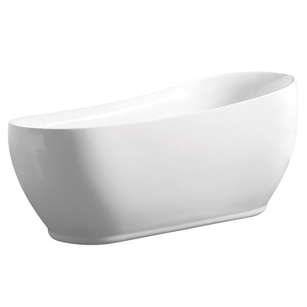 Aqua Eden 71 x 33 Freestanding Soaking Bathtub by Kingston Brass