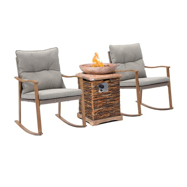Leiston 4 Piece Seating Group with Cushions by Loon Peak
