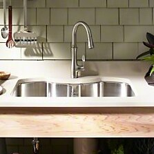 Octave 32 L x 20-1/4 W x 9-5/16 Under-Mount Double-Equal Stainless Steel Kitchen Sink by Kohler