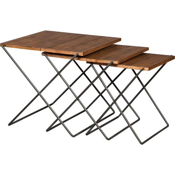 Boone Forge 3 Piece Nesting Tables by Fairfield Chair
