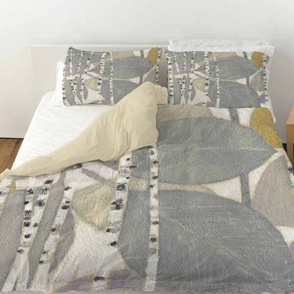 Birch Leaf 2 Duvet Cover by Manual Woodworkers & Weavers