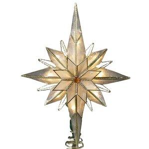 10 light pointed bethlehem star tree topper - Christmas Star Tree Topper