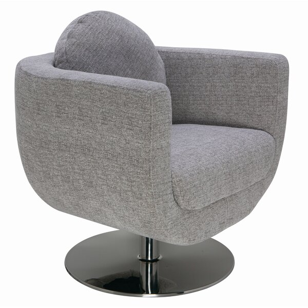 Simone Swivel Barrel Chair by Nuevo