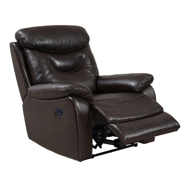 Leather Power Recliner by Red Barrel Studio