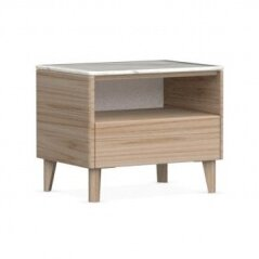 Boston 1 Drawer Nightstand Calligaris Color: Natural