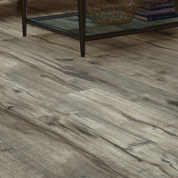Milbank Hickory 5 x 51 12mm Laminate Flooring in Gray by Shaw Floors