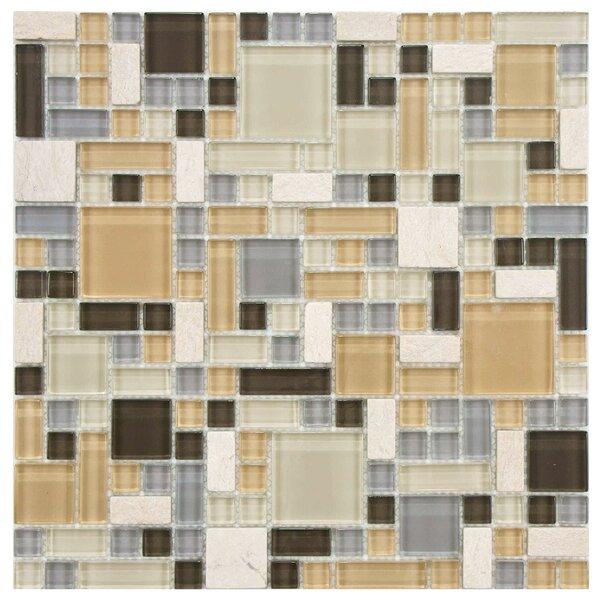 Sierra Random Sized Glass/Stone Mosaic Tile in Versailles River by EliteTile