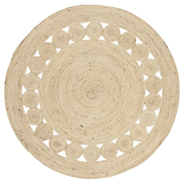 Venessa Hand-Woven Ivory Area Rug by Bungalow Rose
