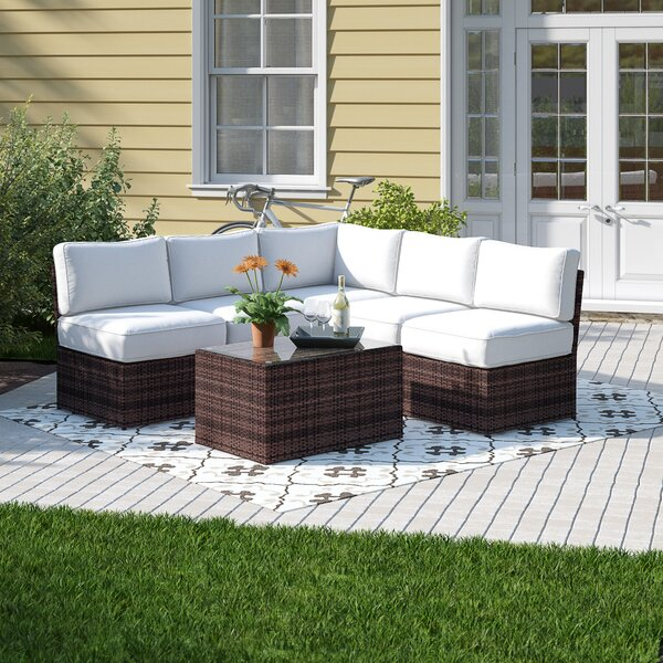 Widener 6 Piece Sectional Seating Group with Cushions by Sol 72 Outdoor