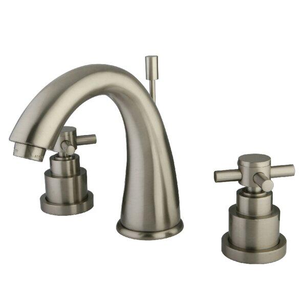 Elinvar Widespread Bathroom Faucet with Brass Pop-Up Drain by Kingston Brass Kingston Brass