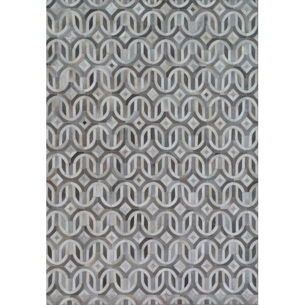 Natural Hide Gray/Ivory Area Rug by Exquisite Rugs