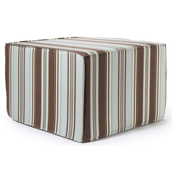 Thick Stripes Outdoor Ottoman in Spa by Jiti