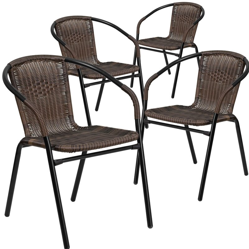 Superb Abrahamic Stacking Patio Dining Chair (Set Of 4)