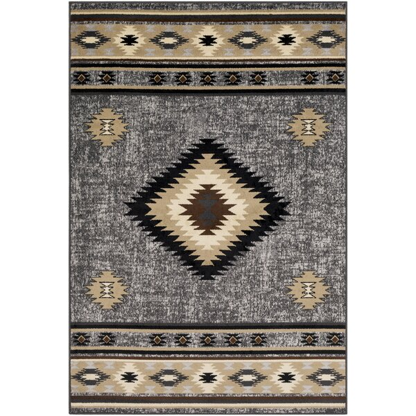Thornton Black/Tan Area Rug by Millwood Pines