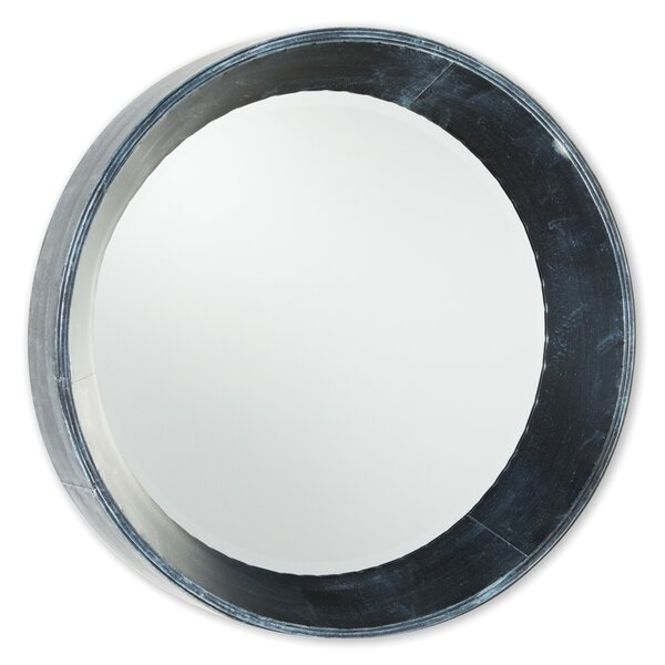 Round Black Wall Mirror by 17 Stories