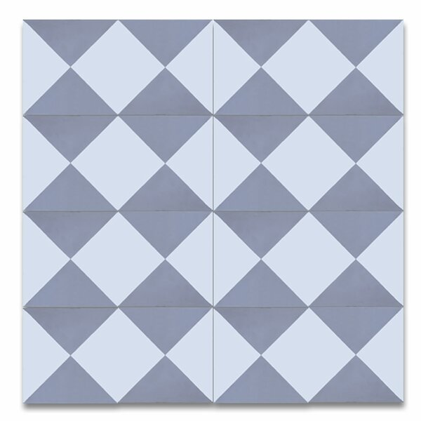 Jadida 8 x 8 Cement Patterned Tile in White/Gray by Moroccan Mosaic