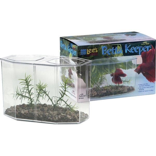 0.47 Gallon Large Aquarium Betta Keeper Aquarium Tank by Lees Aquarium & Pet
