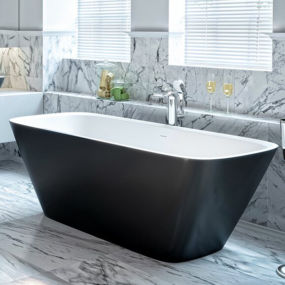 Arabella 68.5 x 30.25 Freestanding Soaking Bathtub by Aquatica