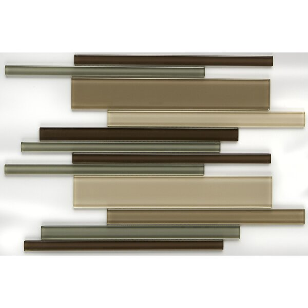 Geneva Random Sized Glass Mosaic Tile in Classic Sweet Escape by Itona Tile