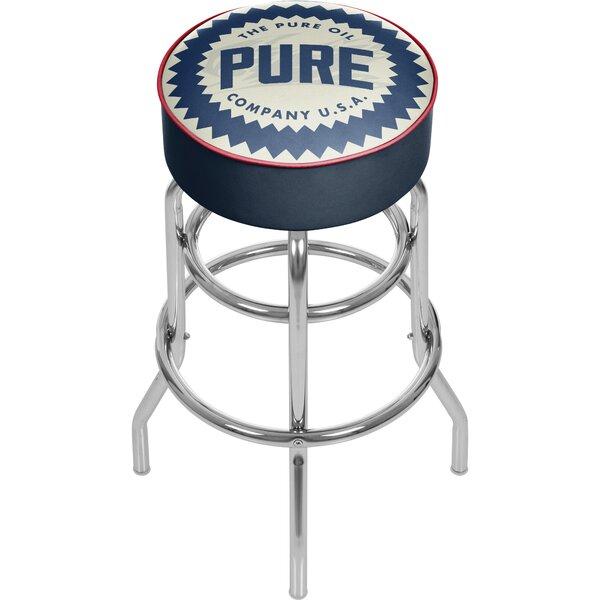 Pure Oil Wordmark Swivel Bar Stool By Trademark Global
