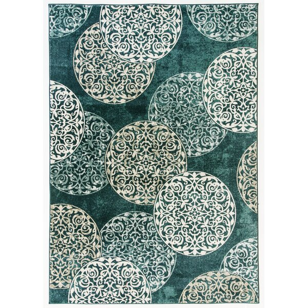 Morocco Blue Area Rug by Charlton Home