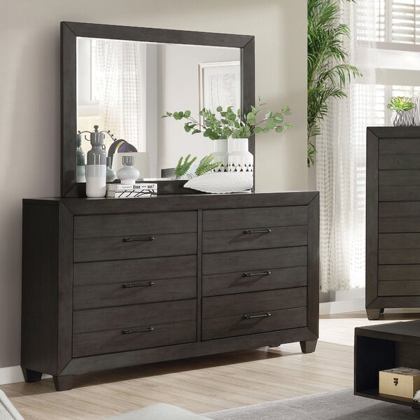 Dussault 6 Drawer Double Dresser with Mirror by Winston Porter