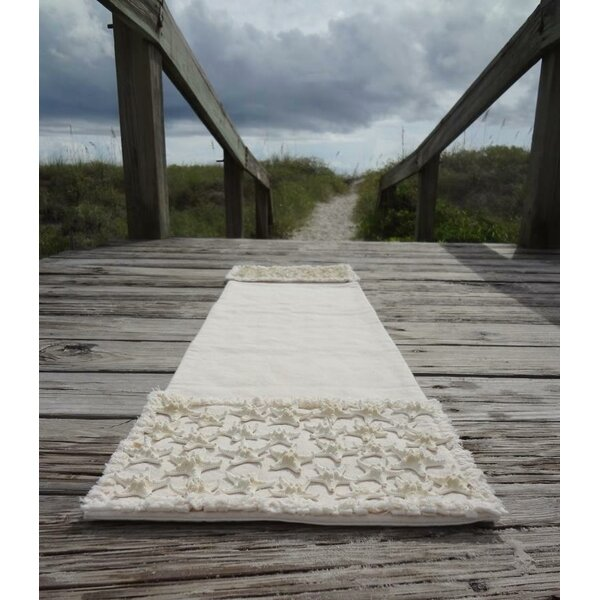 Culver Natural Coastal Canvas Table Runner by Rosecliff Heights