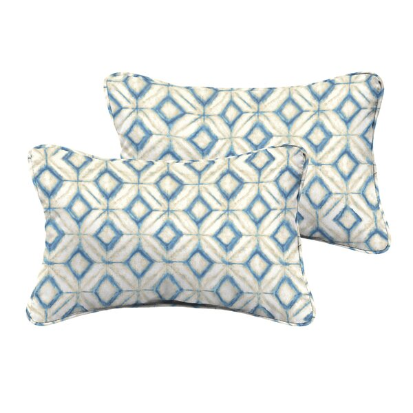 Breshears Indoor/Outdoor Lumbar Pillow (Set of 2) by Wrought Studio