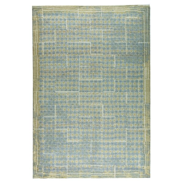 Burbank Hand-Woven Gray/Beige Area Rug by M.A. Trading