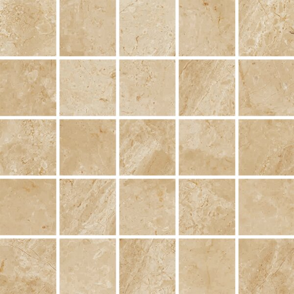 Peyton 2 W x 2 Porcelain Mosaic Tile in Beige by Parvatile