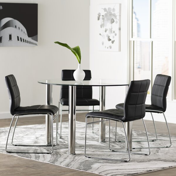 Rockaway 5 Piece Dining Set by Wade Logan