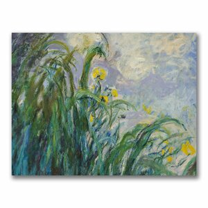 The Yellow Iris by Claude Monet Painting Print on Canvas by Trademark Fine Art