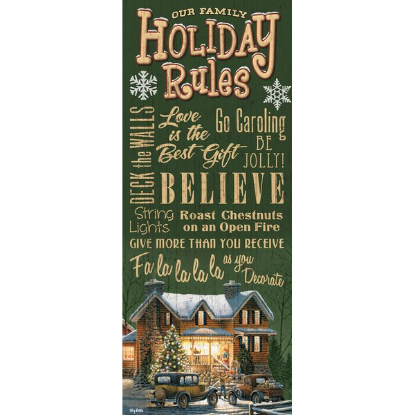 Family Holiday Rules by Terry Redlin Textual Art by Wild Wings