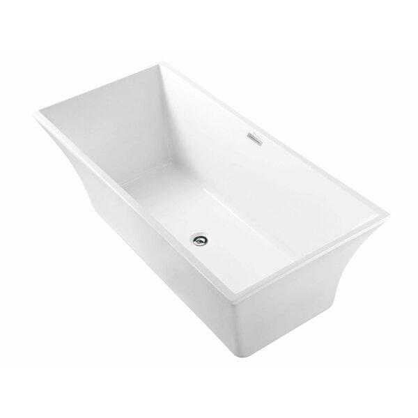 Capri 67 L x 30 W Freestanding Soaking Bathtub by Finesse