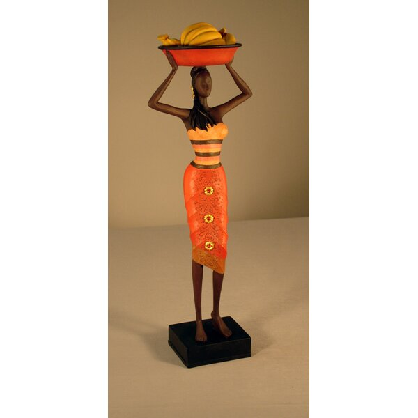 Bloomsbury Market Narcissa Jamaican Lady With Bananas Figurine & Reviews by Bloomsbury Market