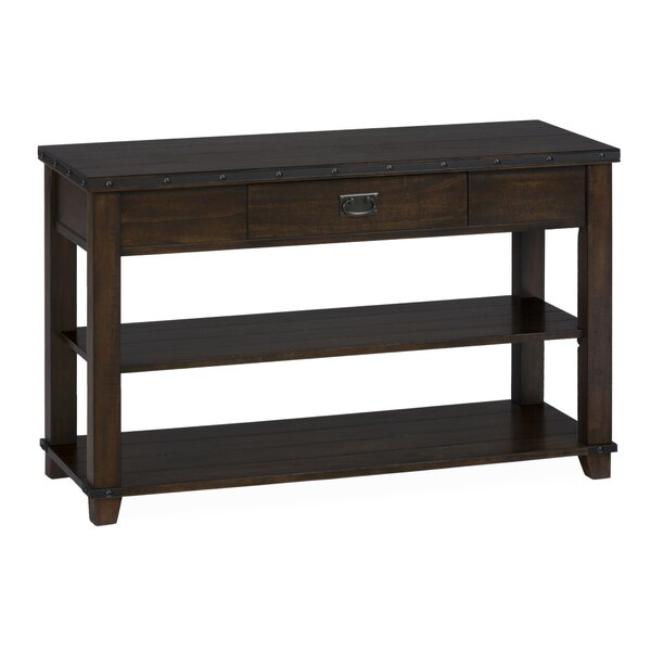 Jedidiah Wooden Media Console Table by 17 Stories