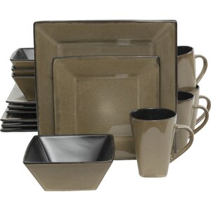Jove 16 Piece Dinnerware Set, Service for 4