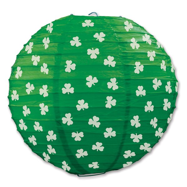 Forbis Shamrock Paper Lantern Lamp (Set of 6) by The Holiday Aisle