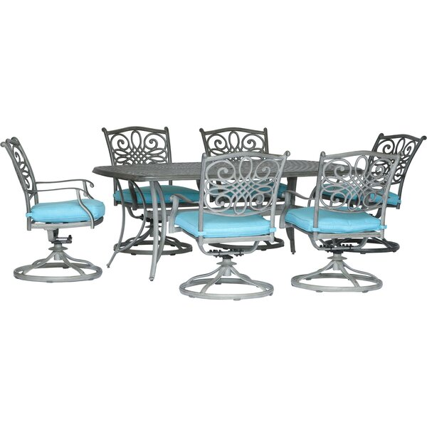 Wyman 7 Piece Dining Set with Cushion by Charlton Home