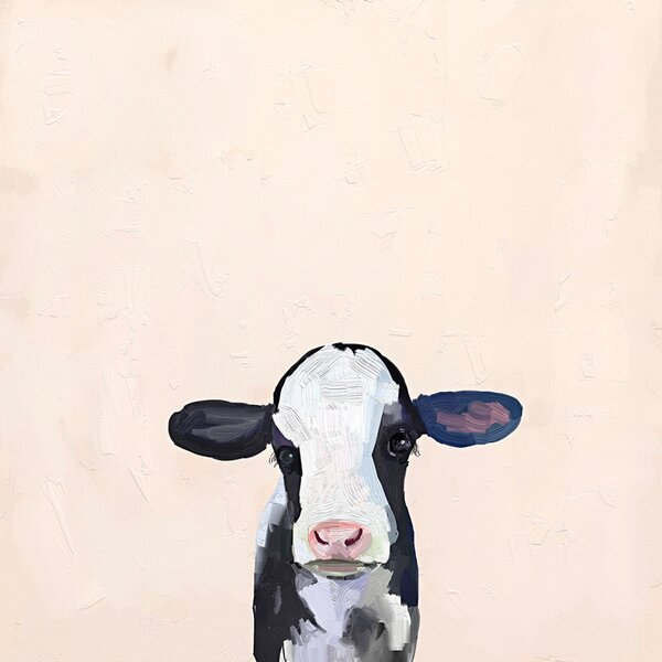 Baby Holstein Cow by Cathy Walters Paper Print by Oopsy Daisy