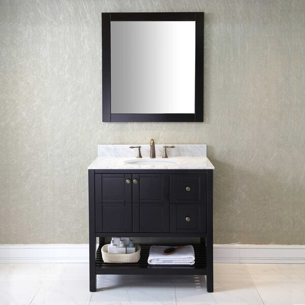 Borough Park Modern 36 Single Bathroom Vanity Set with Mirror by Brayden Studio