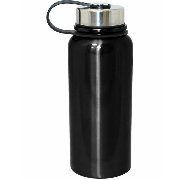 Vacuum Seal Double Wall 30 Oz. Stainless Steel Water Bottle by Gourmet Home Products