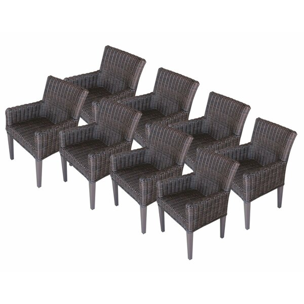 Venice Patio Dining Chair with Cushion (Set of 8) by TK Classics