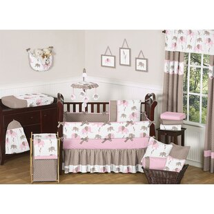 Reviews Elephant 9 Piece Crib Bedding Set BySweet Jojo Designs