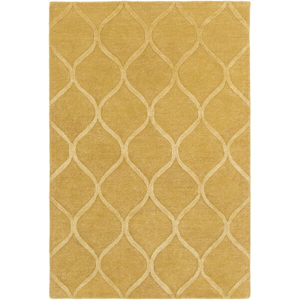 Bronaugh Hand-Tufted Gold Area Rug by Greyleigh