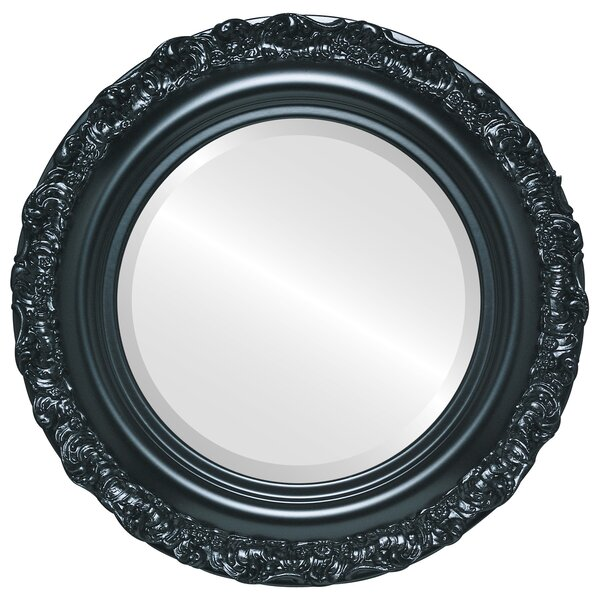 Winegar Framed Round Accent Mirror by House of Hampton
